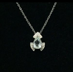 Jewelry - STERLING SILVER GREEN AMETHYST PENDANT NECKLACE